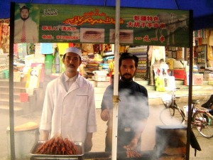 Chengdu- Xinjiang Kebab Vendor, 10.2006