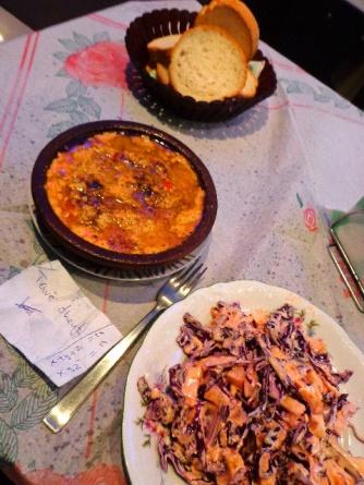 Shkodër- Tavë Dhèu, Mayonnaise Salad & Bread