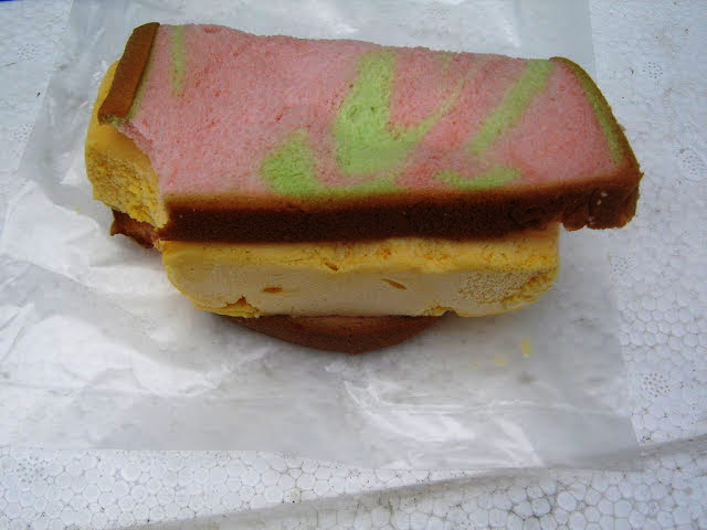 Singapore - Mango (Durian) Ice Cream Sandwich